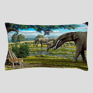 Wildlife of the Miocene era, artwork Pillow Case