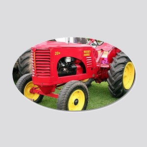 Massey-Harris Tractor 20x12 Oval Wall Decal