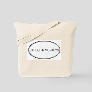 Oval Design: CAPUCHIN MONKEYS Tote Bag