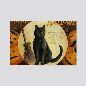 Vintage Merry Halloween Rectangle Magnet