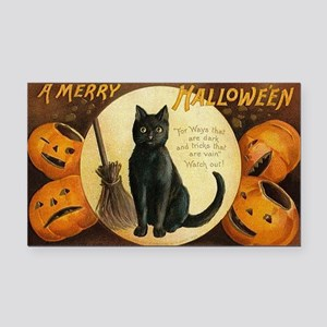 Vintage Merry Halloween Rectangle Car Magnet