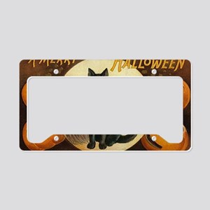 Vintage Merry Halloween License Plate Holder