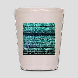 Internet computer code Shot Glass