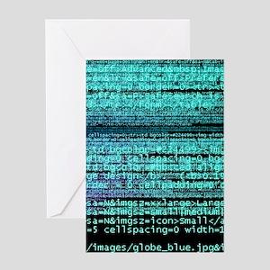 Internet computer code Greeting Card