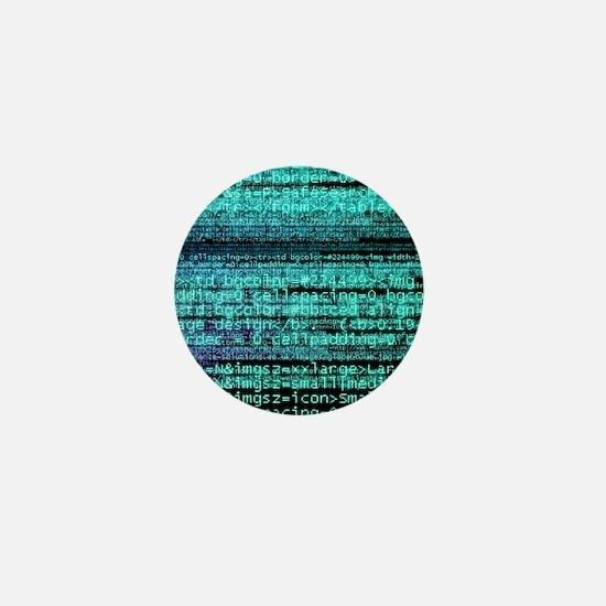 Internet computer code Mini Button