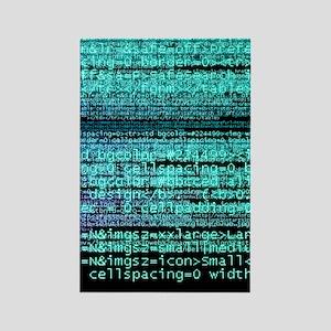 Internet computer code Rectangle Magnet