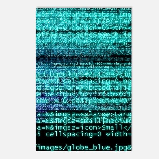 Internet computer code Postcards (Package of 8)