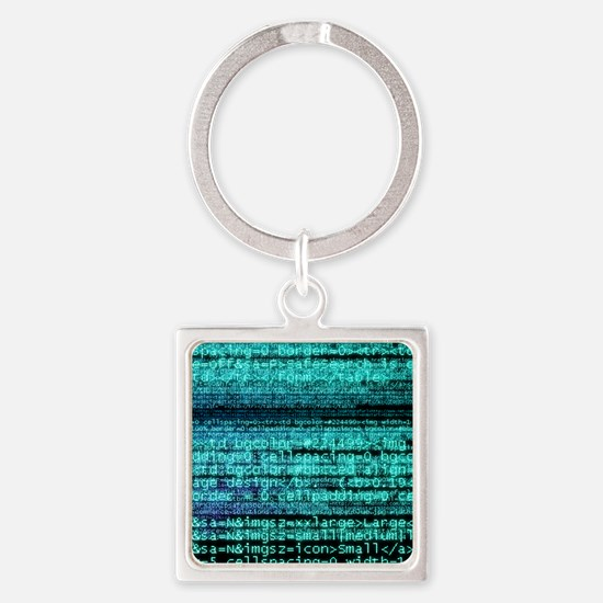 Internet computer code Square Keychain