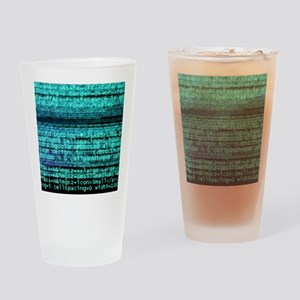 Internet computer code Drinking Glass