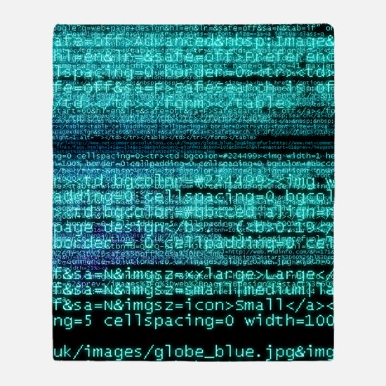 Internet computer code Throw Blanket