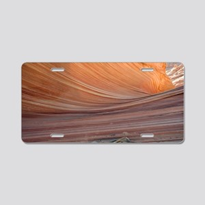 The Wave rock formation, Ar Aluminum License Plate