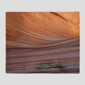 The Wave rock formation, Arizona Throw Blanket