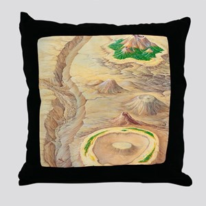 Types of islands Throw Pillow