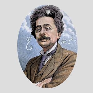 Albert Einstein, physicist Oval Ornament