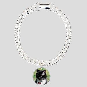 Saint Patrick beer kitty Charm Bracelet, One Charm