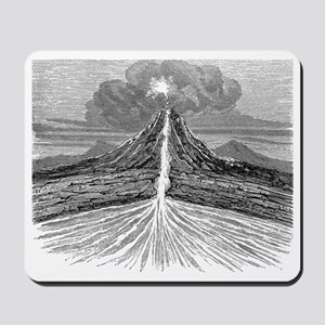 Volcano section, 19th century artwork Mousepad