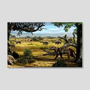 Wildlife of the Miocene era, artw 20x12 Wall Decal