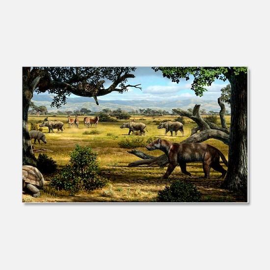 Wildlife of the Miocene era, artw Wall Sticker