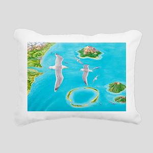Types of islands Rectangular Canvas Pillow