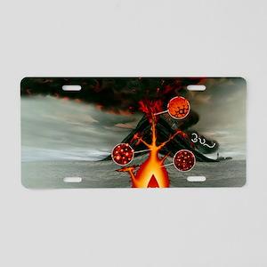 Volcanic eruption Aluminum License Plate