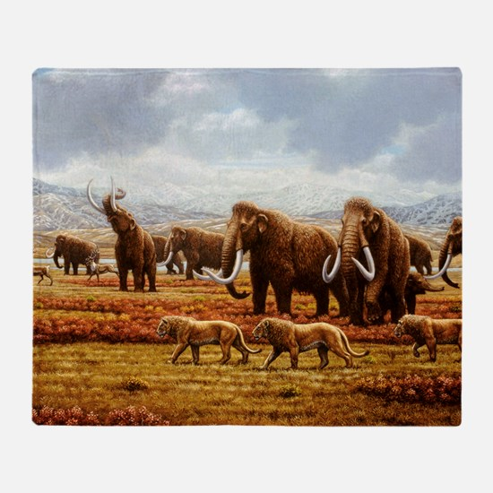 Woolly mammoths Throw Blanket