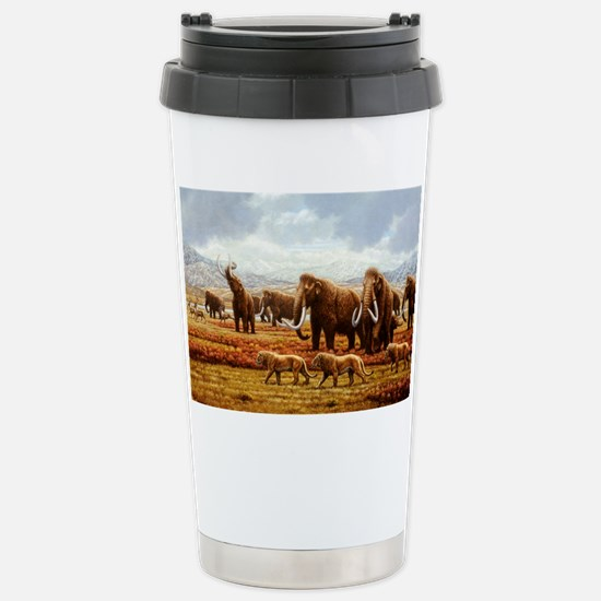 Woolly mammoths Stainless Steel Travel Mug