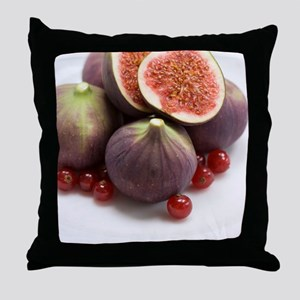 Whole and halved figs Throw Pillow
