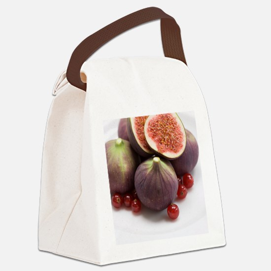 Whole and halved figs Canvas Lunch Bag