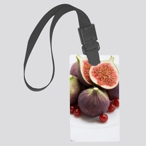 Whole and halved figs Large Luggage Tag