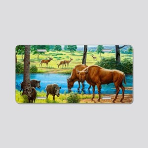 Wildlife of the Pleistocene Aluminum License Plate