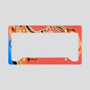 Artwork of cochlear implant i License Plate Holder