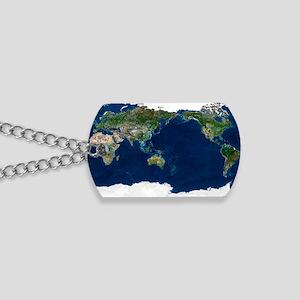 Whole Earth, satellite image Dog Tags