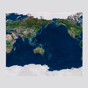 Whole Earth, satellite image Throw Blanket