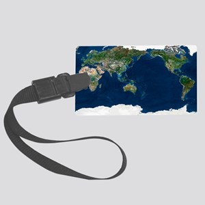 Whole Earth, satellite image Large Luggage Tag