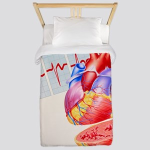 Artwork of heart Twin Duvet