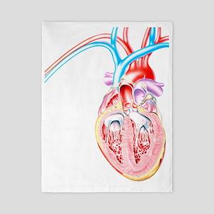 Artwork of heart in congestive heart fa Twin Duvet