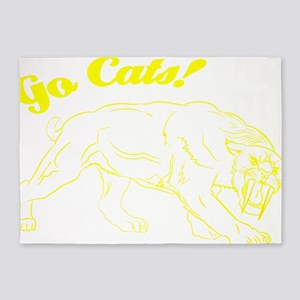 Go Cats! Smilodon 5'x7'Area Rug
