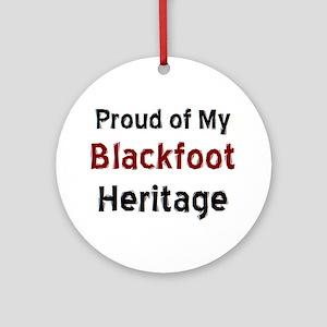 blackfoot heritage Round Ornament