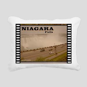 Niagara Falls Calendar Rectangular Canvas Pillow