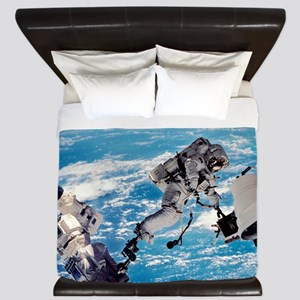 ISS space walk King Duvet
