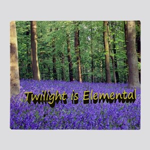 Twilight is Elemental Throw Blanket