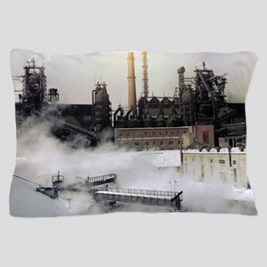 Iron and steel works Pillow Case