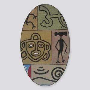 Taino Petroglyphs Sticker (Oval)