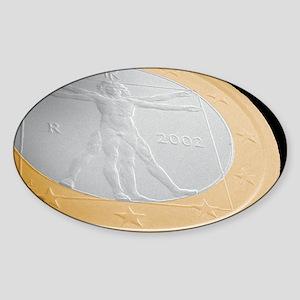 Italian one euro coin, SEM Sticker (Oval)