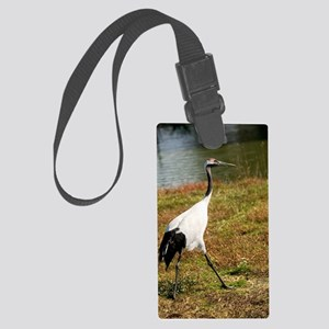 Japanese crane Large Luggage Tag