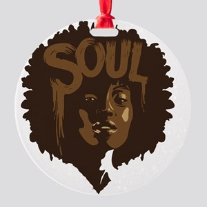 Soul Fro Round Ornament