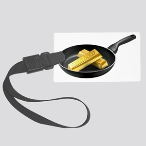 Fried Gold Spaced Large Luggage Tag