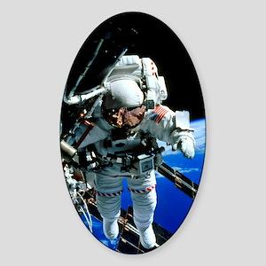 ISS astronaut Sticker (Oval)