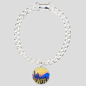 Seatt;e Washington Mt. R Charm Bracelet, One Charm