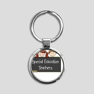 Teachers Special Education Round Keychain